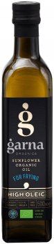 Масло подсолнечное Garna Organica высокоолеиновое рафинированное дезодорированное вымороженное прессовое органическое 500 мл (4820044491321)