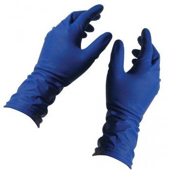 Перчатки синие Ambulance Pf латексные неопудренные прочные S RD10091006