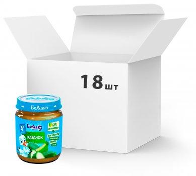 Упаковка овочевого пюре Беллакт з кабачків 18 банок по 100 г (4814716000072_18)