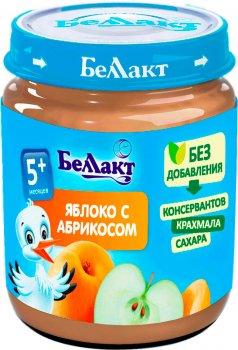 Упаковка фруктового пюре Беллакт з яблук і абрикосів 12 банок по 100 г (4814716000133_12)