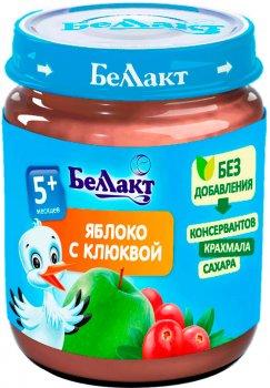 Упаковка фруктового пюре Беллакт з яблук і журавлини 12 банок по 100 г (4814716000140_12)