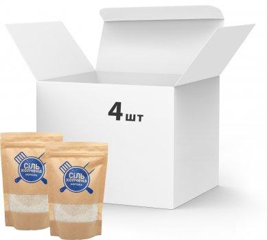 Упаковка морской соли Український дим копченой 4 шт х 150 г (4820143390440)