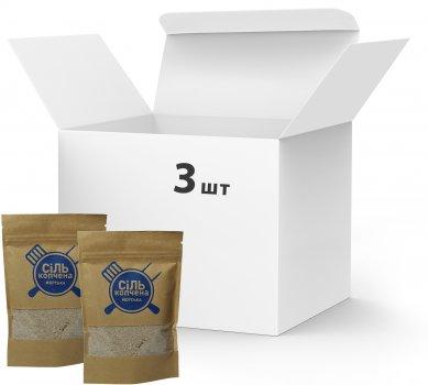 Упаковка морской соли Український дим копченой 3 шт х 300 г (4820143390112)