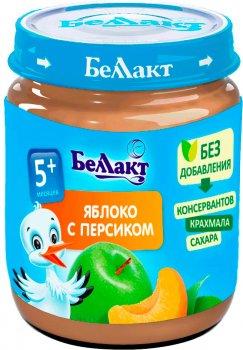 Упаковка фруктового пюре Беллакт з яблук і персиків 12 банок по 100 г (4814716000126_12)