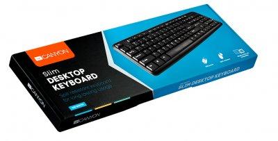 Клавиатура проводная Canyon CNE-CKEY01-RU USB