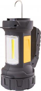 Ліхтар Mastertool 2-в-1 з ручкою 360°, 4 режими, 180 х 94 х 143 мм, CREE LED + COB LED, 4 x AA, ABS (94-0804)
