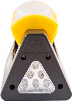 Фонарь магнитный с регулировкой наклона бокового света Mastertool 125 х 52 х 52 мм, 6 x LED + COB LED, 4 x AAA (94-0809)