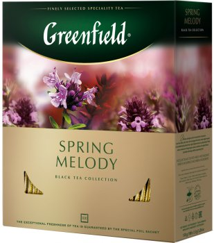 Чай пакетированный Greenfield Spring Melody 100 шт х 1.5 г (4823096806600)