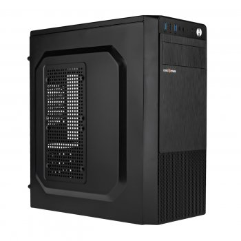 Корпус Logicpower 2009-400W 8см, 1xUSB2.0, 2xUSB3.0, Black