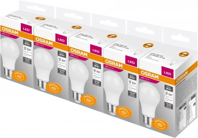 Набір світлодіодних ламп Osram A60 8 W 720 Лм E27 4000 K 5 шт. (4058075479357)