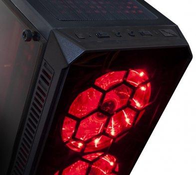 Корпус Frime Fusion Red led USB 3.0, без БЖ (Fusion-U3-315RLF-WP)