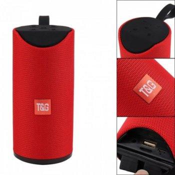 Портативна Bluetooth колонка T&G 113, вологостійка c функцією гучний зв'язок, FM радіо, червона