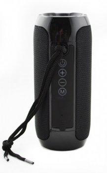 Портативная Bluetooth колонка T&G 117, влагостойкая c функцией громкая связь, FM радио, черная