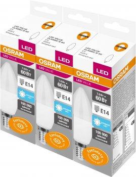 Набір світлодіодних ламп Osram LS CLB 7 W 550 Лм 6500 K E14 3 шт. (4058075479784)