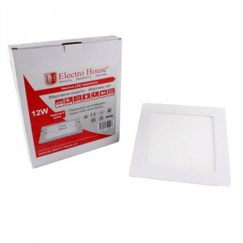LED панель ElectroHouse квадратна 12W 170х170мм