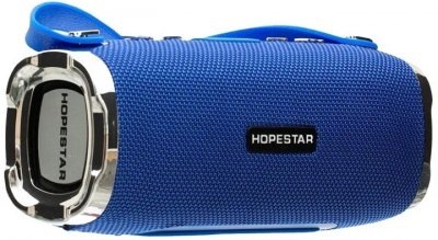Портативная беспроводная Bluetooth колонка Hopestar H24 Синяя (jHxixX)