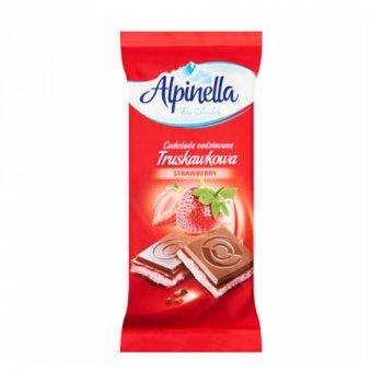 Шоколад Alpinella Strawberry Молочный с клубничной начинкой 90г (00-00000031)