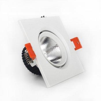 LED світильник ElectroHouse стельовий білий 5W кут повороту 45° 4100К