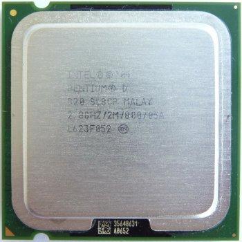 Процесор Intel Pentium D820 2.80 GHz/800MHz/2048k (SL8CP) s775, tray