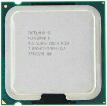 Процессор Intel Pentium D915 2.80GHz/800MHz/4096k (SL9KB) s775, tray