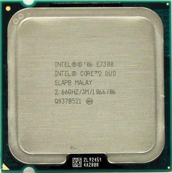 Процесор Intel Core2 Duo E7300 2.66 GHz/3M/1066 (SLAPB) s775, tray
