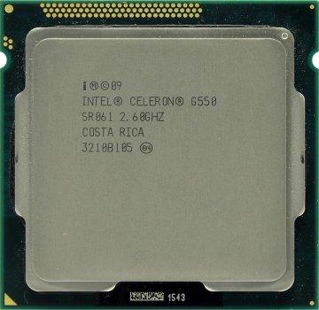 Процесор Intel Celeron Dual-Core G550 2.6 GHz/2MB/5GT/s (SR061) s1155, tray