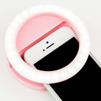 Светодиодное кольцо для селфи селфи-кольцо мини USB Selfie Ring селфи-кольцо с тремя уровнями свечения