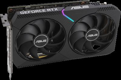 Asus PCI-Ex GeForce RTX 3060 Dual OC 12GB GDDR6 (192bit) (1867/15000) (1 x HDMI, 3 x DisplayPort) (DUAL-RTX3060-O12G)