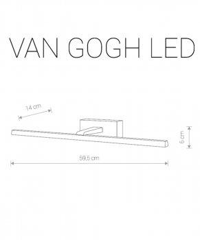 Підсвічування дзеркала для Nowodvorski 9350 Van Gogh LED M