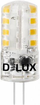 Светодиодная лампа DELUX G4E 3Вт 4000K 12В G4 (90016872) 4 шт