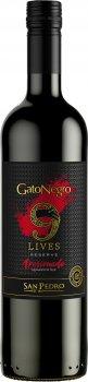 Вино Gato Negro 9 Lives Reserve Apasionado красное сухое 0.75 л 13.8% (7804300149970)