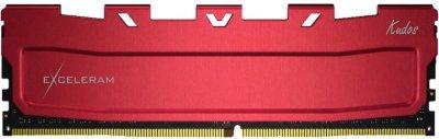 Оперативна пам'ять Exceleram DDR4-3600 16384 MB PC4-28800 Red Kudos (EKRED4163618C)