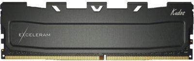 Оперативна пам'ять Exceleram DDR4-3200 16384 MB PC4-25600 Black Kudos (EKBLACK4163216C)