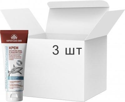 Упаковка крема для ног и тела Карпатська Сила Акулий хрящ с бишофитом 3 шт х 100 мл (4820220810984-3)