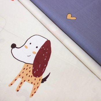 Комплект постельного белья MirSon Бязь 17-0314 Little Doggy Евро (2200002358583)