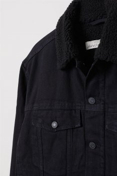 Джинсова куртка H&M 5515041-AAAD Чорна