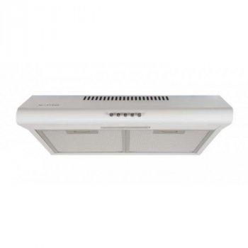 Витяжка кухонна плоска VENTOLUX PARMA 50 WH 50 см пристінна 400 куб. м/год кухня 5-8 кв угольые фільтри відведення біла