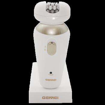 Епілятор жіночий Gemei GM-7005 5в1 на акумуляторі 2 режими Білий