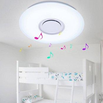 Стельова лампа світлодіодна TSM Led Ceiling 40см світильник в спальню, ванну з мінливими квітами і Bluetooth динаміком