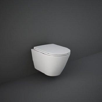 Унітаз підвісний RAK Ceramics Sanitaryware Rimless FEELING Matt White RST23500A