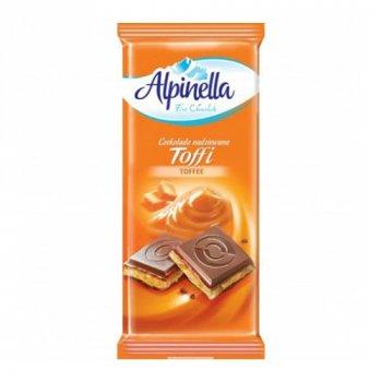 Шоколад Alpinella Toffi Молочный с начинкой Тоффи 90г (00-00000030)
