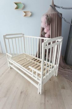 Кроватка-трансформер для детей от 0 до 5 лет Карина-2 Кузя слоновая кость 108.3