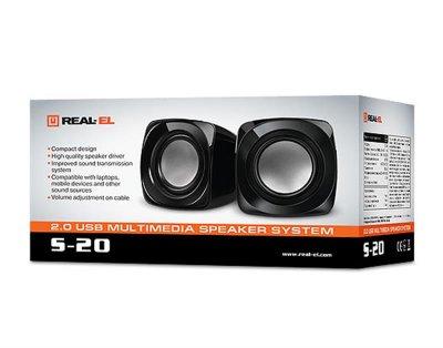 Акустична система REAL-EL S-20 Black
