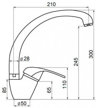 Кухонний змішувач GF (NKS)/S-03-012F