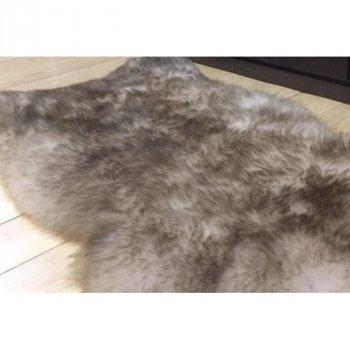 Шкура з овчини Lizhnyk (С306) овеча хутряна накидка попеляста