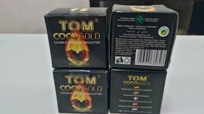 Кокосовый уголь Tom Coco Gold C25 8шт