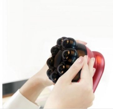 Антицелюлітний інфрачервоний ручний масажер вібро для тіла з підігрівом Magnetic Heat Massager червоний