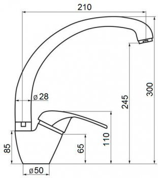 Кухонний змішувач GF (WHI)/S-03-012F