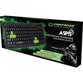 Клавиатура Esperanza EGK102 (EGK102GUA) Green USB