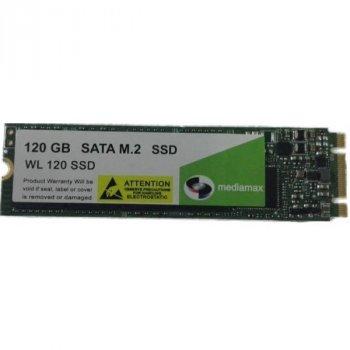 SSD 120GB Mediamax M. 2 2280 SATAIII 3D NAND TLC (WL 120 SSD M. 2) Refurbished напрацювання до 1%